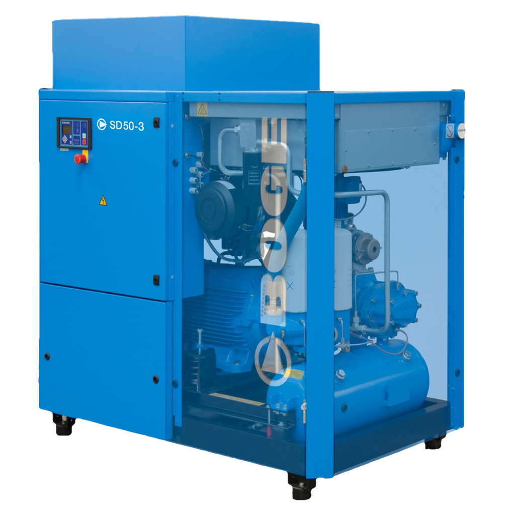 BOGE SD-50-3 Rotary Screw Compressor Open Right View